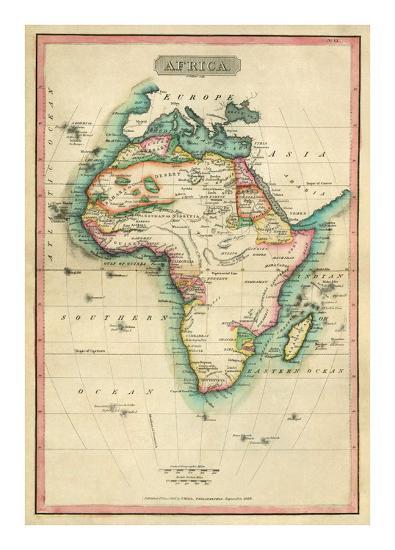 Africa, c.1820-John Melish-Art Print