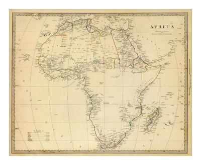 Africa, c.1839--Art Print