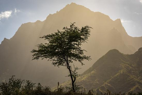africa, Cape Verde, Santiago. View of the Pico da Antonia-Catherina Unger-Photographic Print