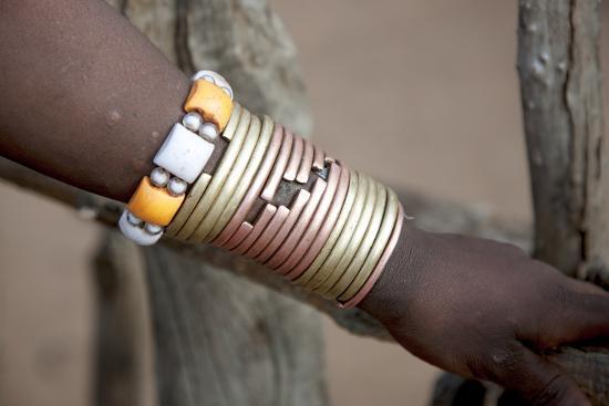 Africa, Ethiopia, South Omo, Hamer tribe. Bracelet detail worn my a Hamer woman.-Ellen Goff-Premium Photographic Print