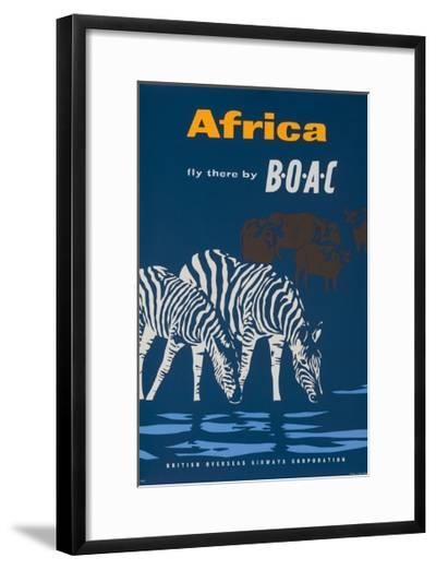 Africa: Fly There by Boac Travel Poster--Framed Giclee Print