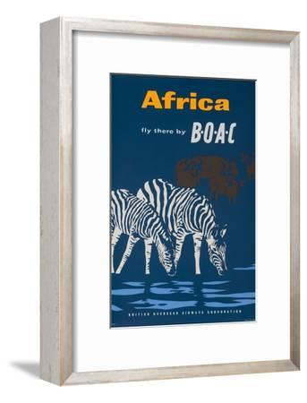 Africa: Fly There by Boac Travel Poster