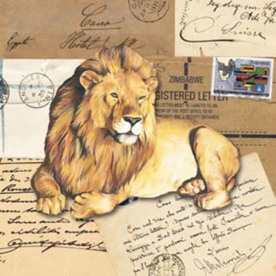 Africa Lions--Art Print