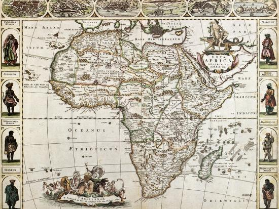 Africa Old Map Created By Frederick De Wit Published In Amsterdam - Amsterdam old map