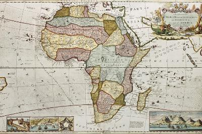 Africa Old Map. Created By Frederick Herman Moll, Published In London, 1710-marzolino-Art Print