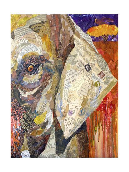 Africa on Collage I-Elizabeth St. Hilaire-Art Print