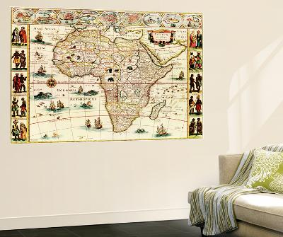 Africa - Panoramic Map - Africa-Lantern Press-Wall Mural
