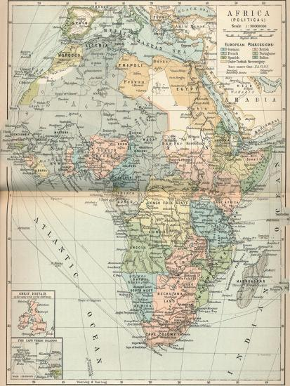 'Africa (Political)', c1902, (1903)-Unknown-Giclee Print