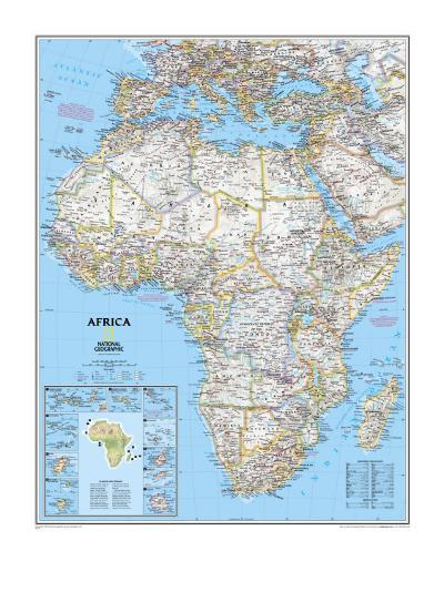 Africa Political Map-National Geographic Maps-Art Print