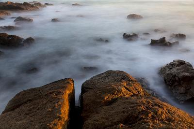 Africa, South Africa. Sunset on Ocean and Shore Rocks-Jaynes Gallery-Photographic Print