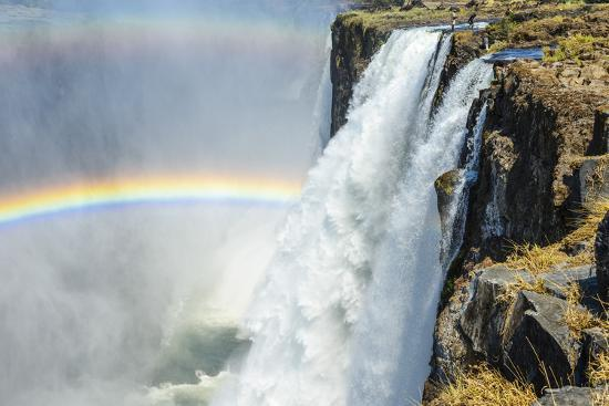 Africa, Zambia. The Victoria Falls and the devil's pool-Catherina Unger-Photographic Print