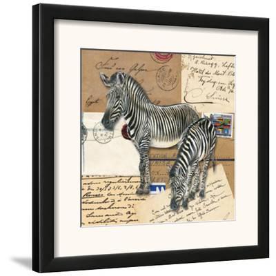 Africa Zebras--Framed Art Print
