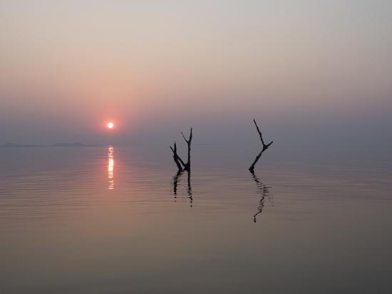 Africa, Zimbabwe, Matusadona National Park. Reflections on Lake Kariba.-Jaynes Gallery-Photographic Print