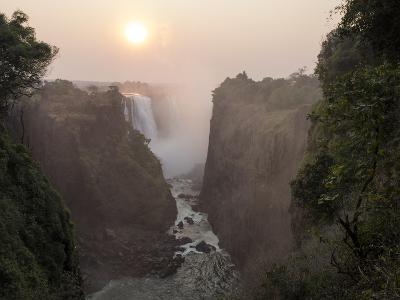 Africa, Zimbabwe, Victoria Falls. View of Waterfalls at Sunrise-Jaynes Gallery-Photographic Print
