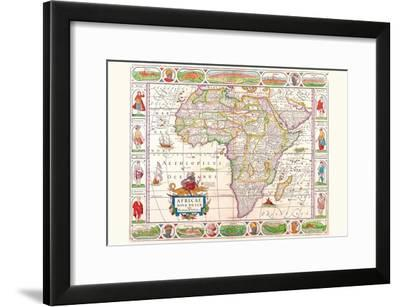Africa-Vincenzo Coronelli-Framed Art Print
