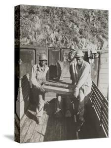 African American Ammunition Handlers Unloading Shells for the Battle of Brest in France