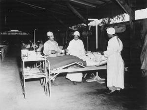 African American Army Nurses in Surgical Ward at Milne Bay, New Guinea, During World War 2