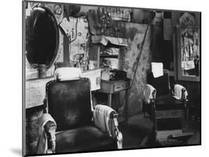 African American Barber Shop, Atlanta, Georgia, March, 1936