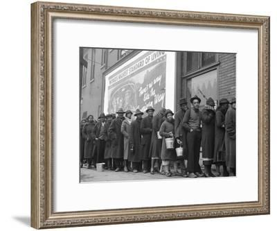 African American Flood Victims Lined Up to Get Food and Clothing From Red Cross Relief Station-Margaret Bourke-White-Framed Premium Photographic Print