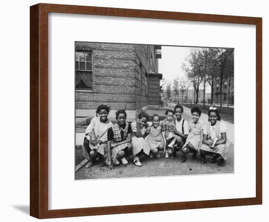 African American Girls Posing on the South Side of Chicago-Gordon Coster-Framed Photographic Print