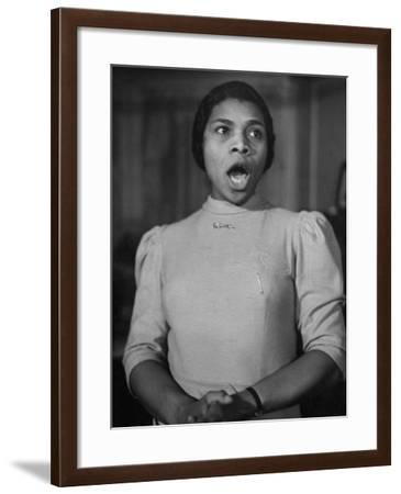 African American Singer Marian Anderson Rehearsing-William Vandivert-Framed Premium Photographic Print