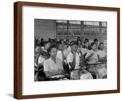 African-American Students in Class at Brand New George Washington Carver High School-Margaret Bourke-White-Framed Premium Photographic Print