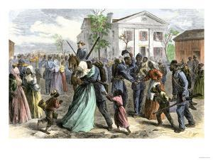 African-American Troops Mustered Out of the Union Army at Little Rock, Arkansas after the Civil War