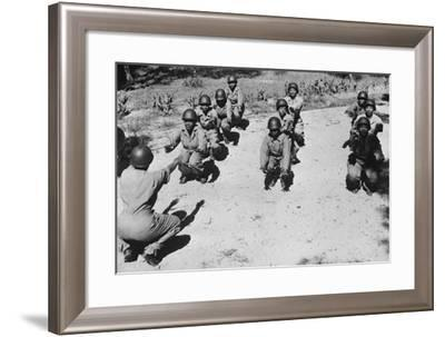 African American Women's Army Corps Nurses in an Early-Morning Workout--Framed Photo