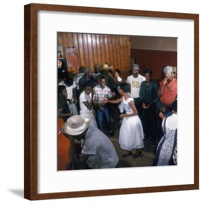 African Americans Dancing to the Jukebox at the Harlem Cafe-Margaret Bourke-White-Framed Premium Photographic Print