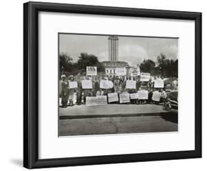 African Americans Demonstrate Against Segregation at the University of Texas, Austin