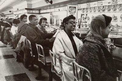 African Americans Sit in at a Lunch Counter in Nashville, Tennessee in 1960--Photo