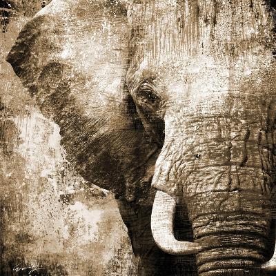 African Animals I - Sepia-Eric Yang-Art Print