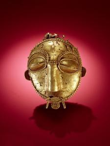 Asante Mask, from Ghana (Gold) by African