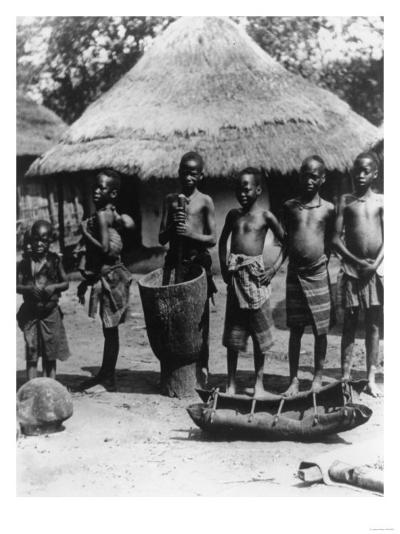 African Children in East Africa Photograph - Africa-Lantern Press-Art Print