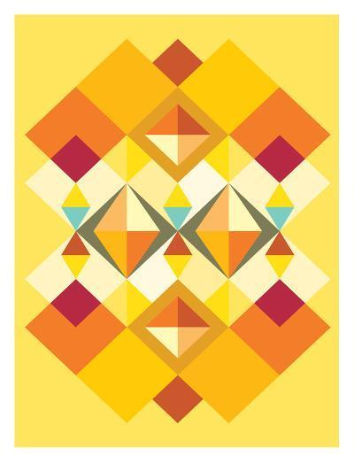 African Fabric Pattern-Patricia Pino-Art Print