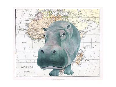 African Hippo-Jane Wilson-Giclee Print