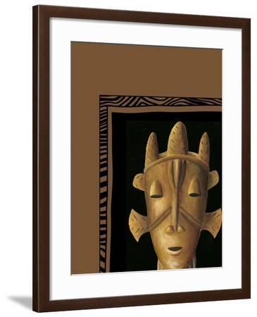 African Mask II-Chariklia Zarris-Framed Art Print