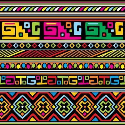 African Pattern Color- valeriya-Art Print