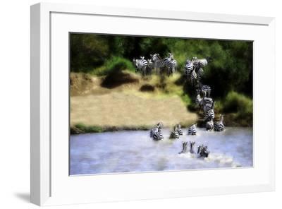African Plains IX-Golie Miamee-Framed Art Print