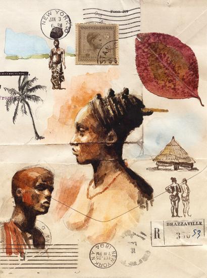 African Profiles-Marc Lacaze-Art Print