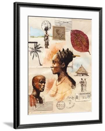 African Profiles-Marc Lacaze-Framed Art Print