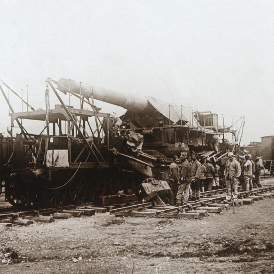 African troops and heavy artillery, Champagne, northern France, c1914-c1918-Unknown-Photographic Print