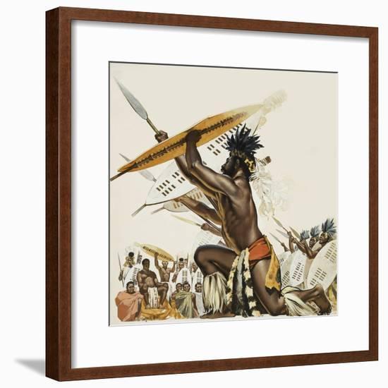 African Warriors-Mcbride-Framed Giclee Print