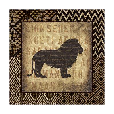 African Wild Lion Border-Hugo Wild-Art Print