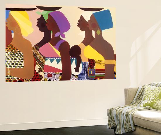 African Women-Varnette Honeywood-Wall Mural