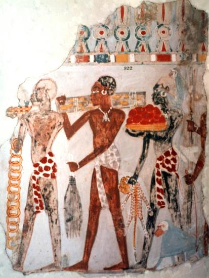 Africans bearing gold and other items, c1400 BC. Artist: Unknown-Unknown-Giclee Print