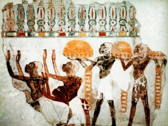 Africans bearing gold, c1400 BC. Artist: Unknown-Unknown-Giclee Print