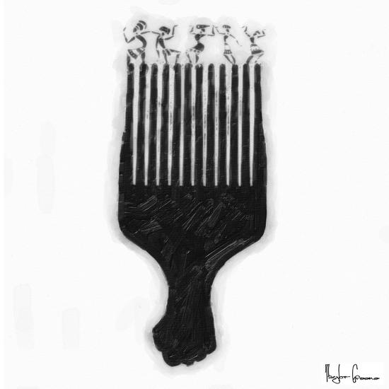 Afro Pick-Taylor Greene-Art Print