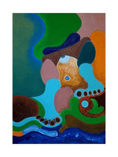 After a Heavy Beating, the Giant Washes His Wounds at the Well, 2009-Jan Groneberg-Giclee Print