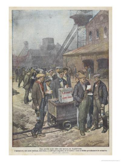 After a Secret Ballot British Miners Decide to Go on Strike-Achille Beltrame-Giclee Print